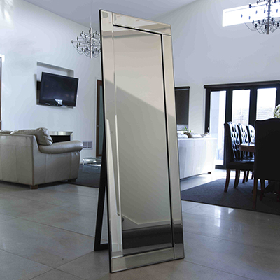 C120 FRAMELESS BEVELLED 2 MIRROR  WITH STAND 56 X 167n