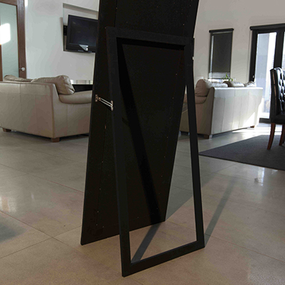 C120 FRAMELESS BEVELLED  4 MIRROR  WITH STAND 56 X 167