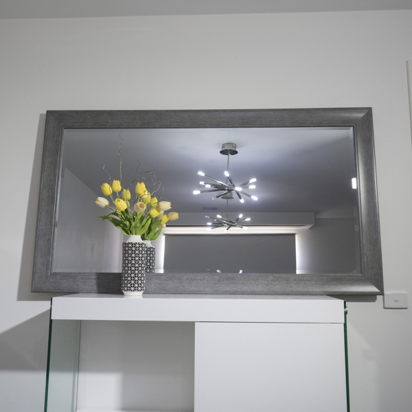 Framed Beveled Mirror 95 Cm X 174 Cm Quote Fltgrlg
